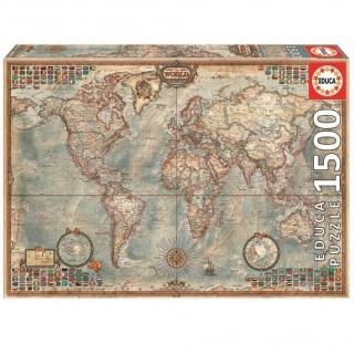 Educa Borras Political World Map 1500 Piece Puzzle