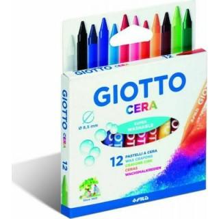 Giotto 12 Κηρομπογιές Cera 9cm