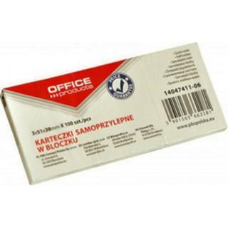 Αυτοκόλλητα χαρτάκια σημειώσεων OFFICE 38x51mm σετ 3x100 φύλλων