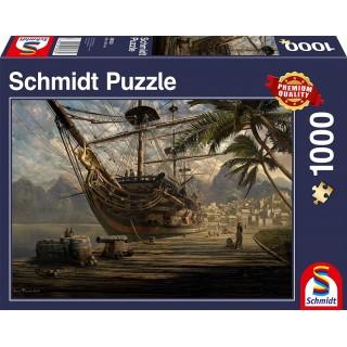 SCHMIDT Puzzle Ship at Anchor 1000 Piece