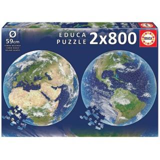 ΠΑΖΛ 2x800 ROUND PUZZLES EARTH