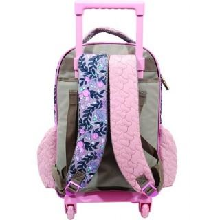 Gim Minnie Poetic Σχολική Τσάντα Τρόλευ Δημοτικού σε Ροζ χρώμα