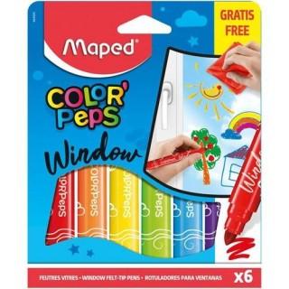 Μαρκαδόροι Maped Color' Peps window 6 τεμαχια
