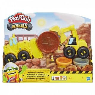 Play-Doh Wheels Φορτηγά Οχήματα Κατασκευών (Εκσκαφέας Και Φορτωτής)